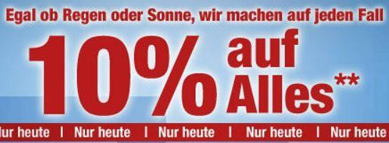 Plus3 Plus.de   bis 24 Uhr 10% Rabatt auf fast alles   z.B. Einhell GH PM 46/1 S Benzin Rasenmäher für 171€