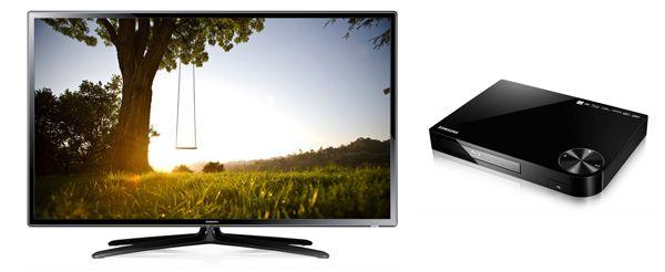 Knaller! Samsung UE46F6100 für 399,99€ + gratis Blu ray Player + zwei 3D Brillen