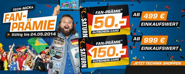 50€ Gutschein Card ab 499€ Einkaufswert bei Saturn   Update