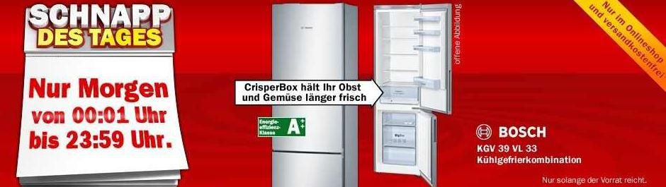 Bosch KGV 39 VL 33 Kühlgefrierkombination ab Mitternacht für 399 ...