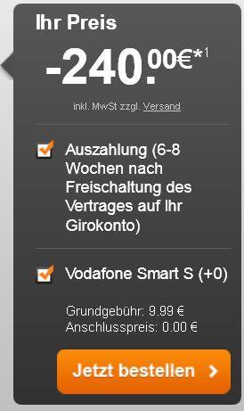 bonus Vodafone Smart S Vertrag   Einsteiger Kost nix Vertrag mit 20€ Gewinn   Update