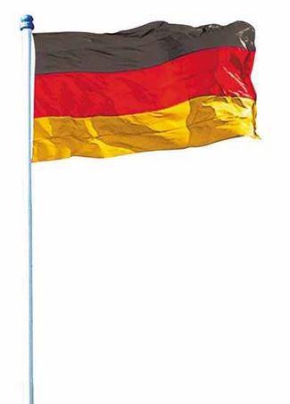 Alu Fahnenmast 4m inkl. Deutschland Fahne für 19,99€