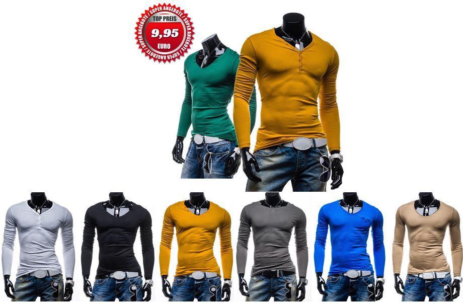 ebay15 STEGOL Herren Longsleeve   Slim Fit für je 9,95€ inkl. Versand   Update