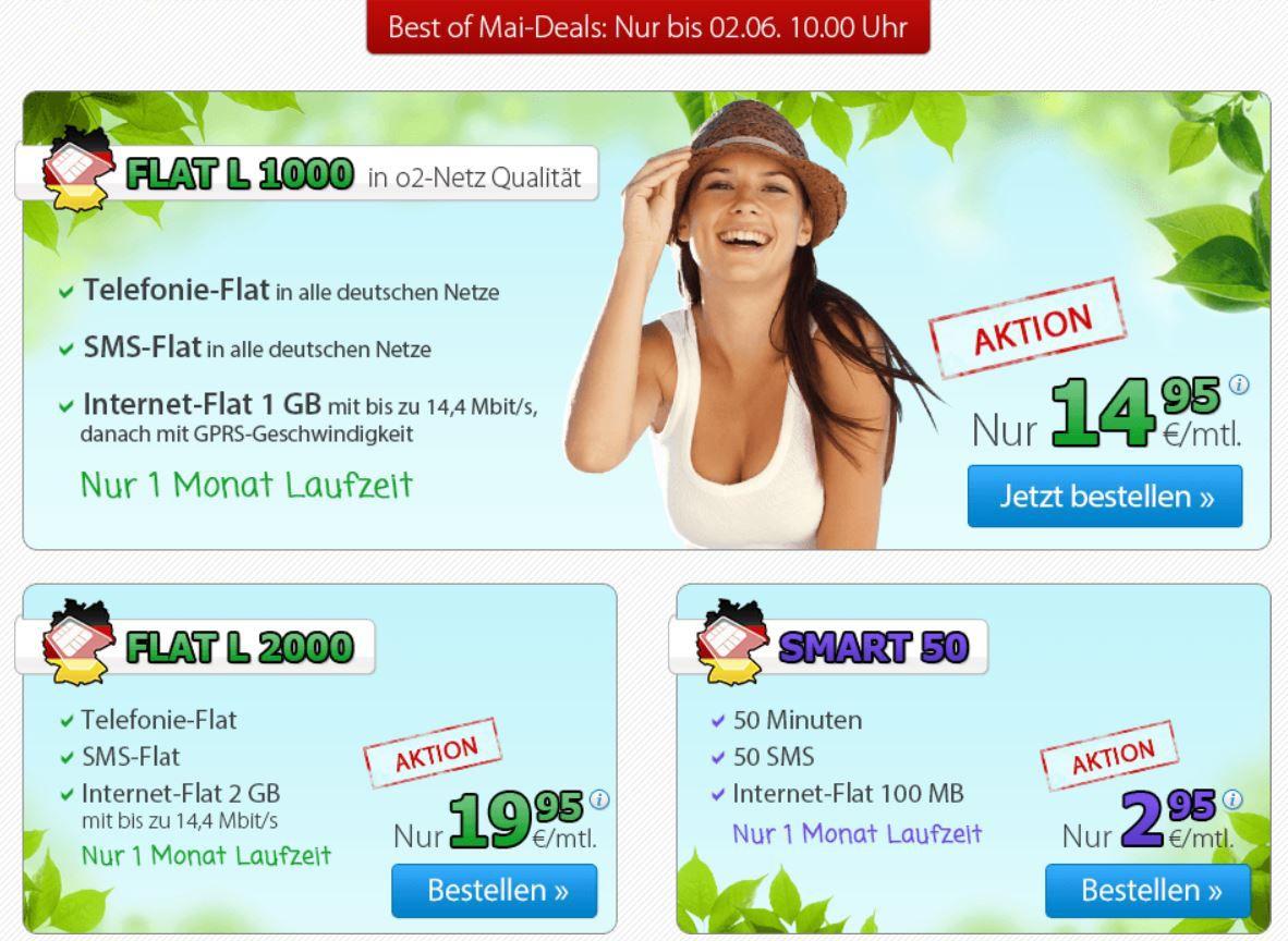 handy5 O² DeutschlandSIM  Telefon FLAT L inkl. SMS & 2GB Daten Flat nur 19,95 € monatlich kündbar   Update