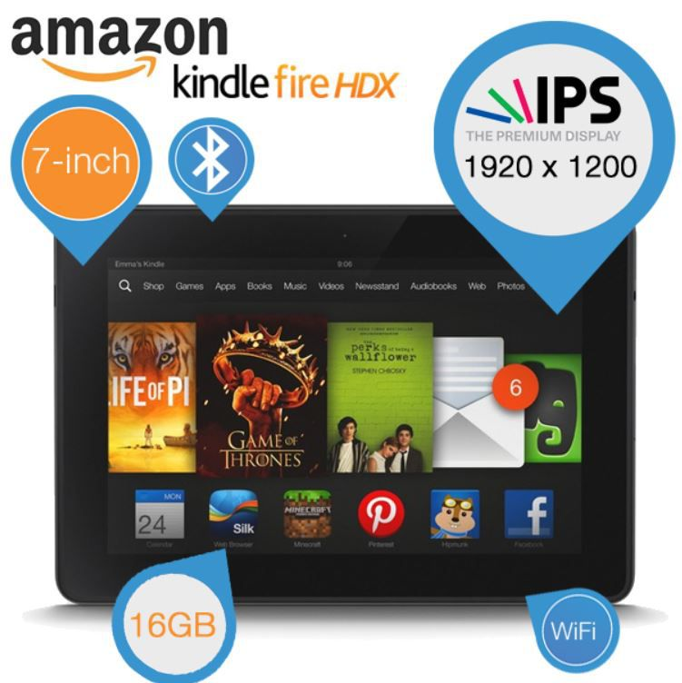 Amazon Kindle HDX 7   Tablet mit hochauflösendem Display für 135,90€   Update