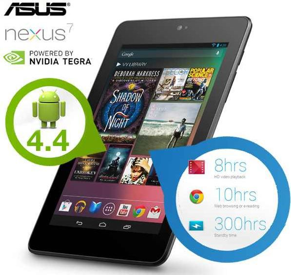 ASUS Google Nexus7    32GB Android 4.4 Tablet für 105,90€   Update