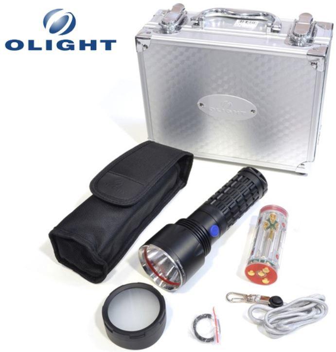 Olight SR51 Intimidator   900 Lumen mit Koffer und Zubehör für nur 55,90€