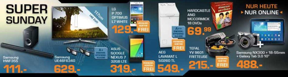 mein deal173 SAMSUNG NX 300 Schwarz + 18 55mm + Tab 3 10 für 488€ und mehr bei den Saturn Super Sunday Angeboten   Update