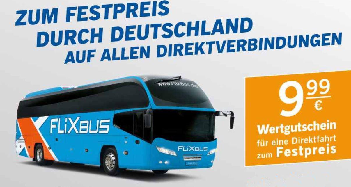Wieder da! FlixBus Gutscheine für 9,99€ pro Strecke   Update