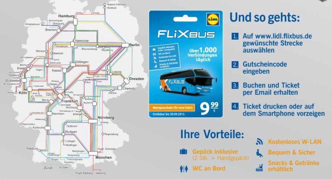 mein deal185 Wieder da! FlixBus Gutscheine für 9,99€ pro Strecke   Update