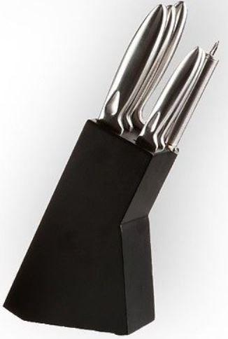 mein deal259 Messerset 6 teilig inkl. Messerblock, Hohlgriffe, aus gebürstetem Edelstahl für 14,99€ inkl. Versand