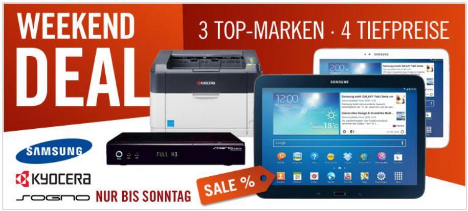 Kyocera FS 1041 S/W Laserdrucker für 49,90€ und mehr Cyberport Weekend Deals