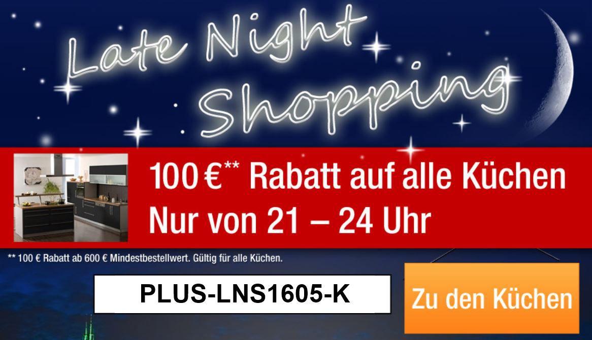 mein deal279 Plus.de   bis 24 Uhr 100€ Rabatt auf alle Küchen (MBW 600€)