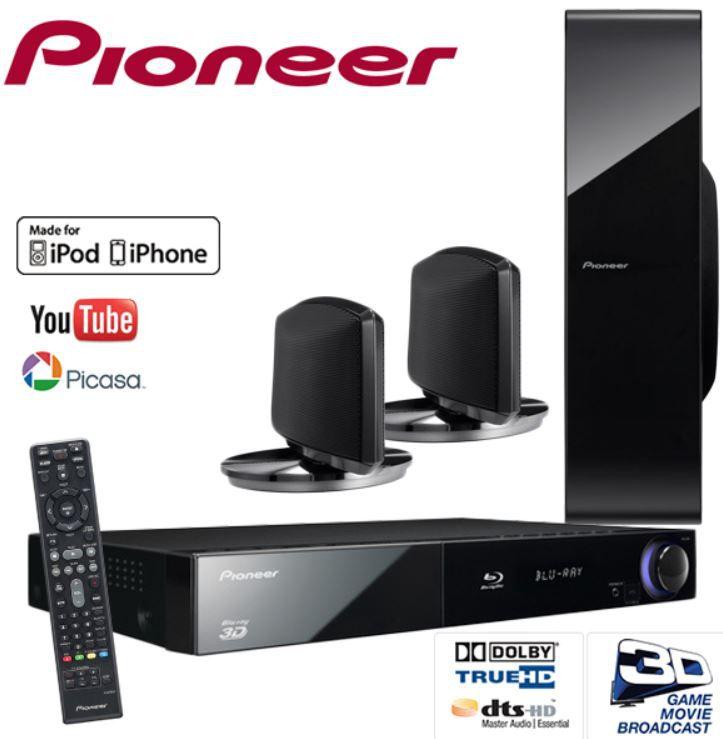 Pioneer 2.1  3D Blu Ray Heimkino System + Sound Wing Lautsprecher für 278,90€