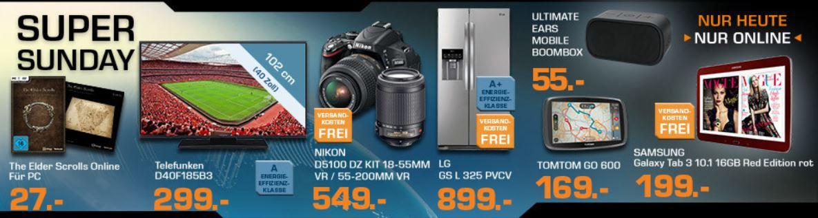 SAMSUNG GT P5210 Galaxy Tab 3 10.1 WiFi ab 199€ und mehr bei den Saturn Super Sunday Angeboten