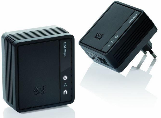 One for All SV 2020   Powerline Internet zu TV Link Adapter (500Mbps) statt 59€ für nur 19,90€