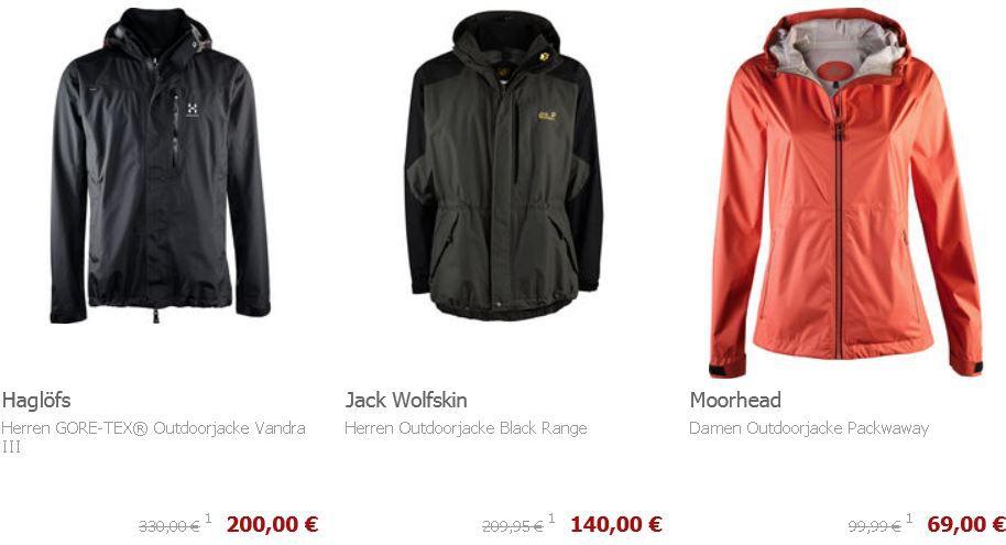 mein deal327  Outdoorjacken mit 20% Rabatt auch im Sale @Karstadt