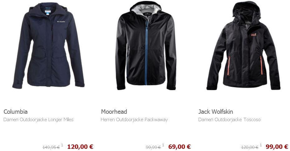 Outdoorjacken mit 20% Rabatt auch im Sale @Karstadt