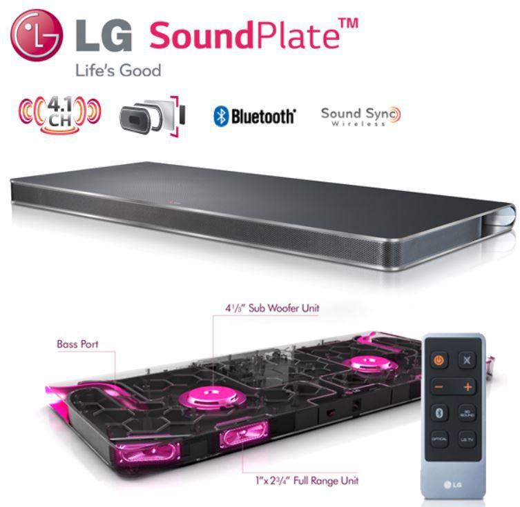 LG LAP341   SoundPlate mit 4.1 Kanal Surround Sound für 175,90€ statt 266€