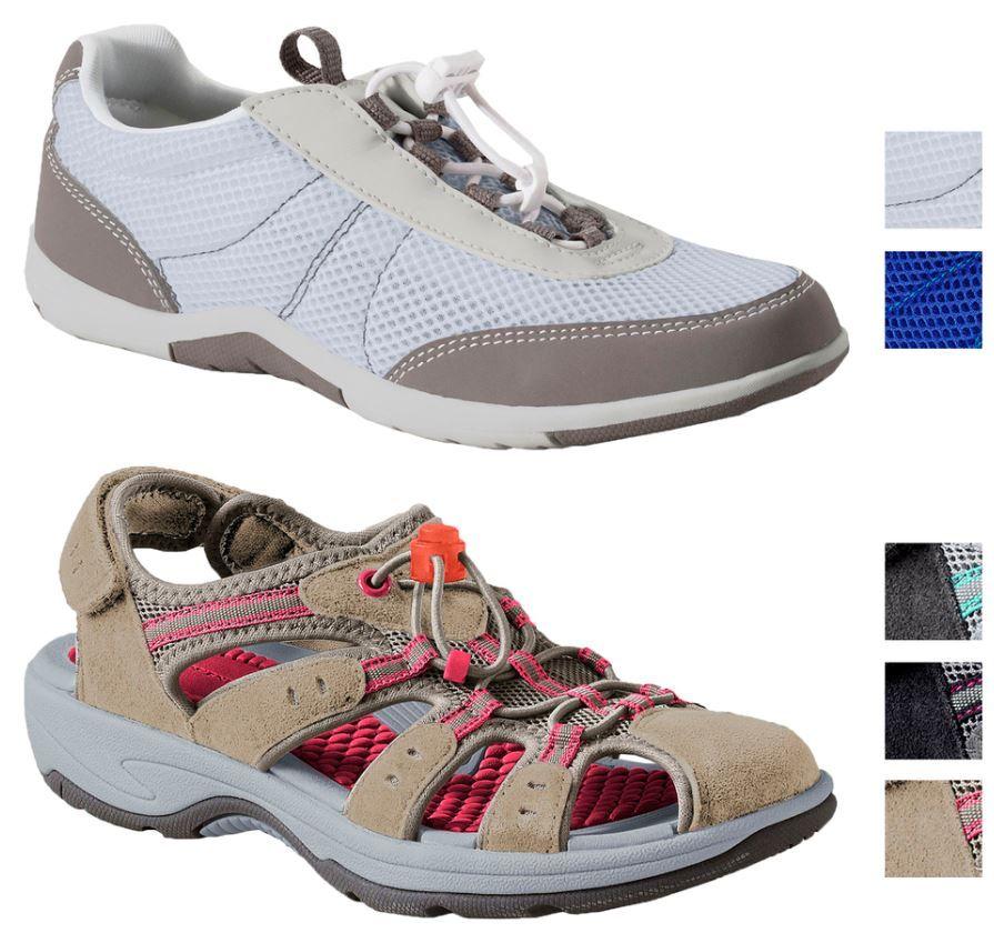 mein deal346 LANDS´ END   Damen Trekking Schuhe und Aqua Schuhe je Paar 17,95€