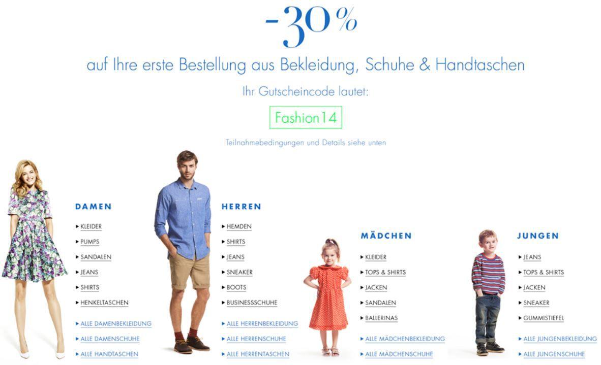30% Rabatt auf die erste Bestellung in der Amazon Kategorie Bekleidung, Schuhe & Handtaschen