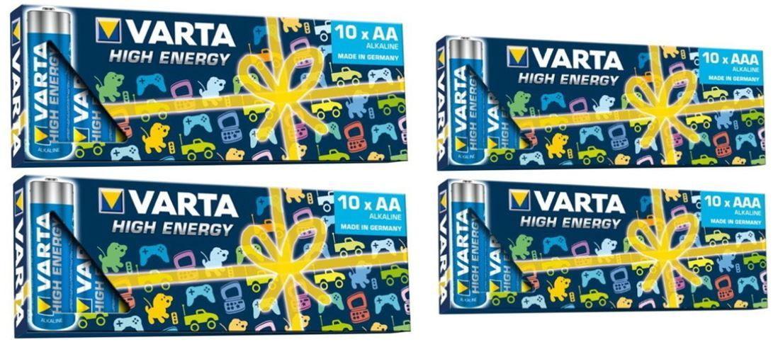 mein deal362 60 Varta High Energy Alkaline Batterien (40x AA Mignon + 20x AAA Micro) für 22,90€