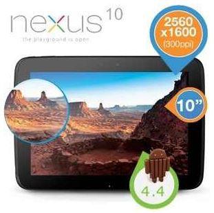 Samsung Google Nexus 10    10 Tablet mit 16GB und WLAN für 235,90€