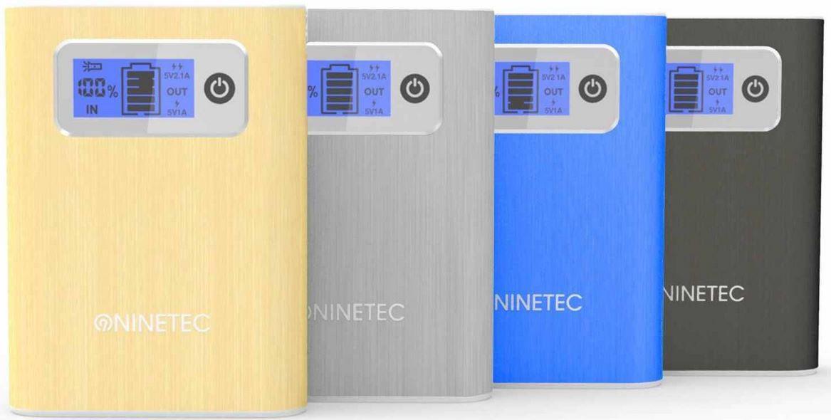 wow1 NINETEC NT 565   13.000mAh Power Bank mobiler Akku für Smartphones, Tablets etc. für je 24,99€   wieder da