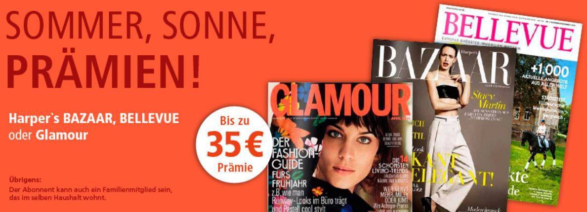 Abo Glamour im Jahres Abo dank Gutschein für effektiv 4,16€