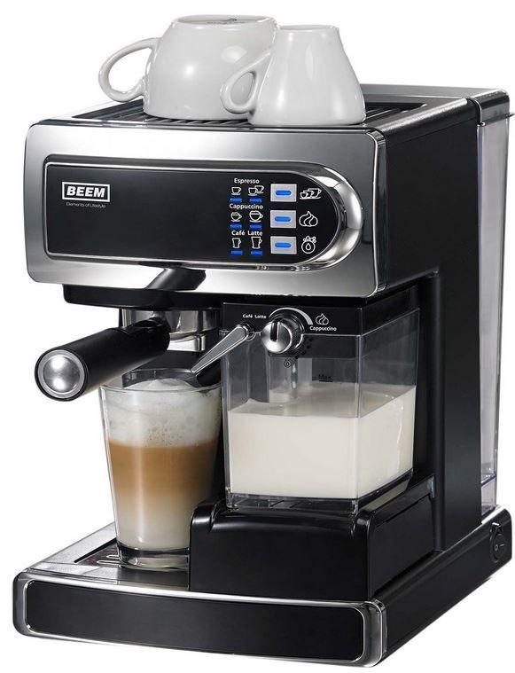 Amazon120 BEEM D2000.550 i Joy Café & Latte Siebträger   Pad Espressomaschine mit Milchaufschäumer für 158,90€   Update!