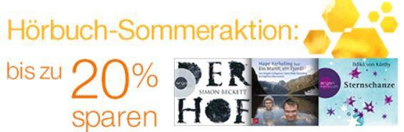 Amazon Hörbuch Sommeraktion mit bis zu 20% Rabatt!