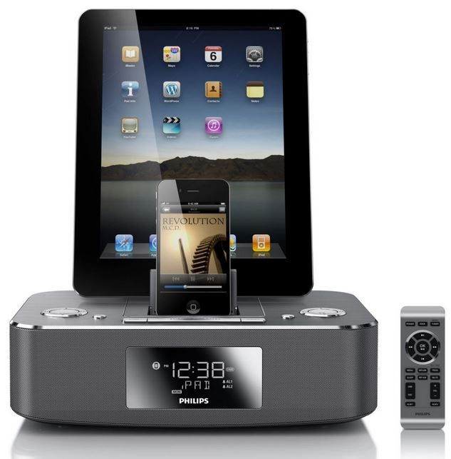 Philips DC390/12   duale Alu Dockingstation für iPod/iPhone/iPad für 59,99€