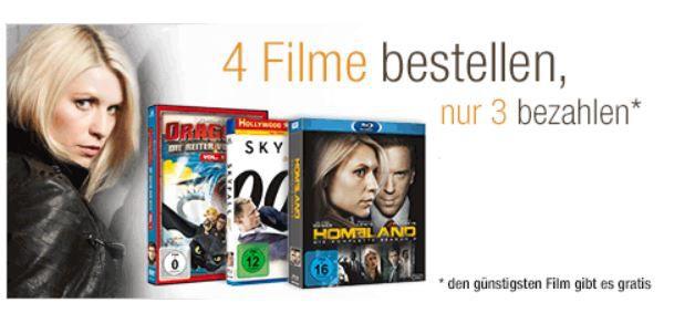 Amazon59 Amazon: 4 Filme bestellen und nur 3 bezahlen