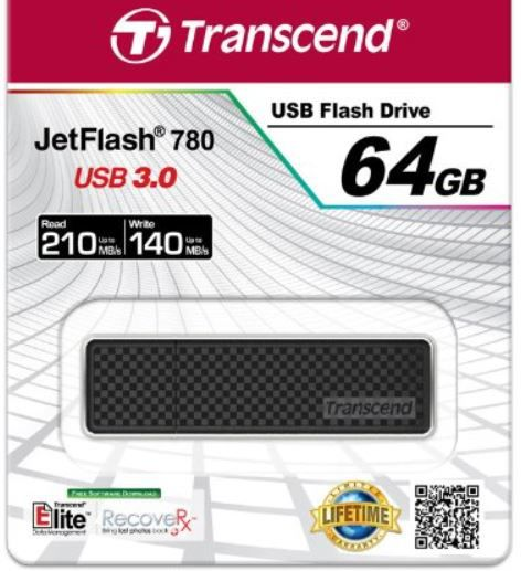 Amazon64 Transcend Extreme Speed JetFlash 780   64GB USB 3.0 Stick für 48,90€