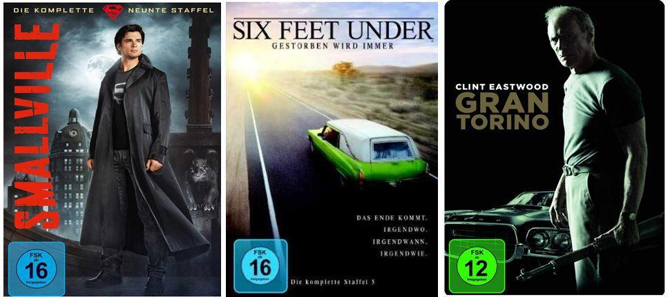 TV Folgestaffeln unter 10€ und mehr Amazon DVD und Blu ray Angebote