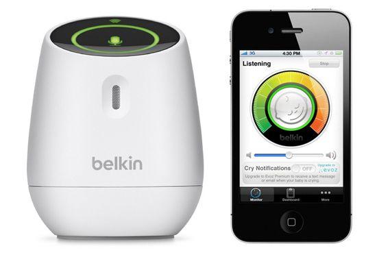 Belkin Wemo Babyphone Belkin F8J007ea Wemo Babyphone mit WLAN für 37,94€ (statt 66€)