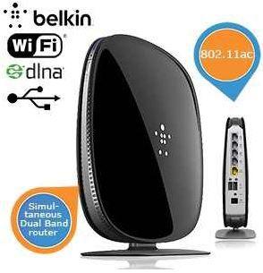 Belkin Belkin AC 1000 DB   WiFi Dual Band AC+ Gigabit Router für 55,90€ inkl. Versand statt 149€.