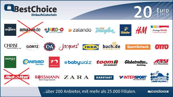 BestChoice Info: BestChoice ab 01.07. ohne Amazon, Media Markt und Saturn