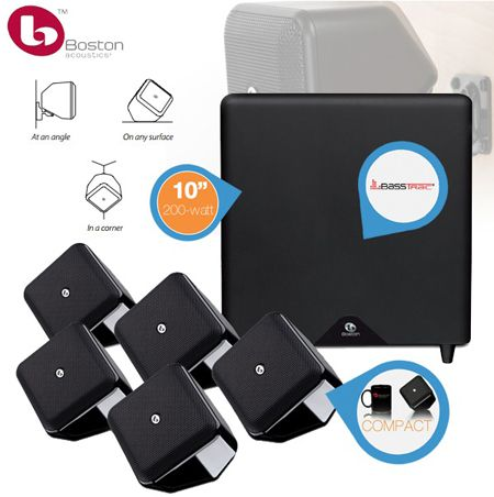 Boston Acoustics Soundware S Boston Acoustics Soundware S   Home 5.1 Sound Lautsprecher System statt 399€ für 308,90€