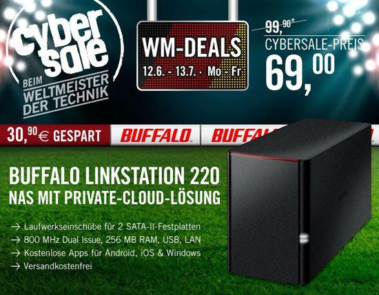 Buffalo LinkStation 220 Buffalo LinkStation 220 NAS System (Leergehäuse) für 69€