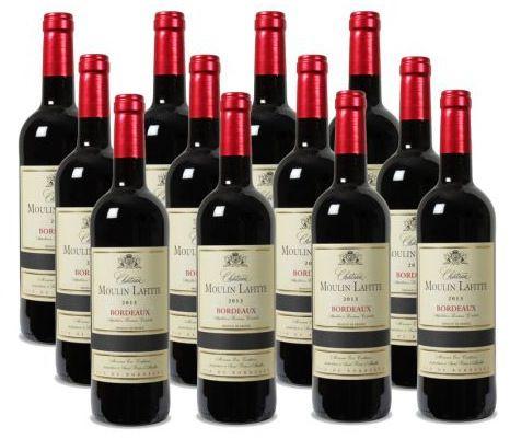 12er Paket Château Moulin Lafitte   Bordeaux AC für 41,18€