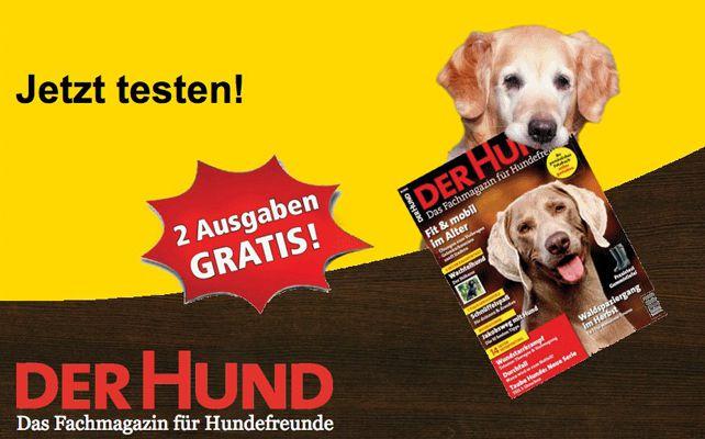 Der Hund Magazin 2 Ausgaben vom Der Hund Magazin kostenlos dank Kennenlernangebot