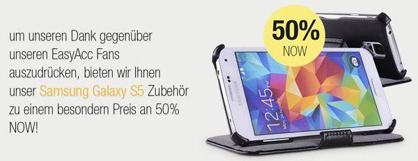 EasyAcc Rabatt 50% Rabatt auf EasyAcc Zubehör für das Samsung Galaxy S5