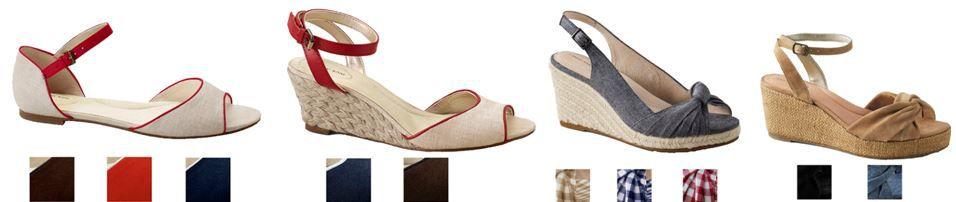 LANDS´ END   Damen Sommer Sandaletten für je Paar nur 19,95€ inkl. Versand