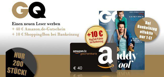 GQ Jahresabo für 51€ + 40€ Gutschein & 10€ ShoppingBon
