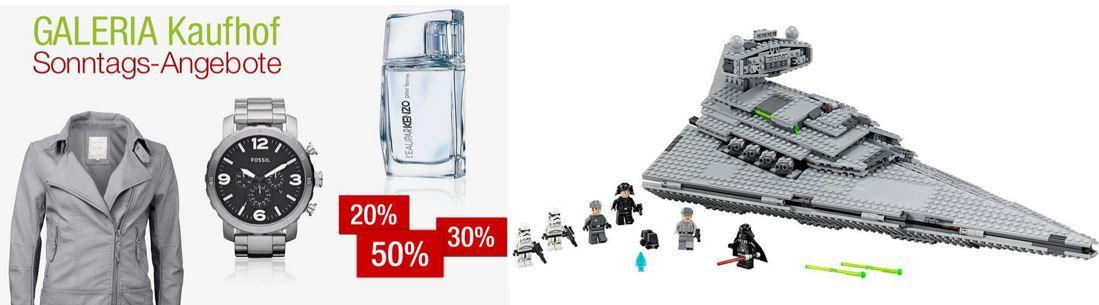 15% Rabatt auf ausgewählte Uhren, Parfüm, Pfannen und Lego bei den Galeria Kaufhof Sonntagsangeboten
