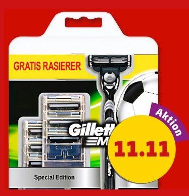 Gilette Mach 3 Rasierer Gillette Mach 3 Rasierer inkl. 6 Rasierklingen für 11,11€ bei Penny