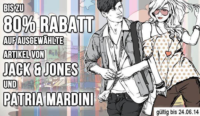 80% Rabatt auf ausgewählte Artikel von Patria Mardini und Jack & Jones   Update