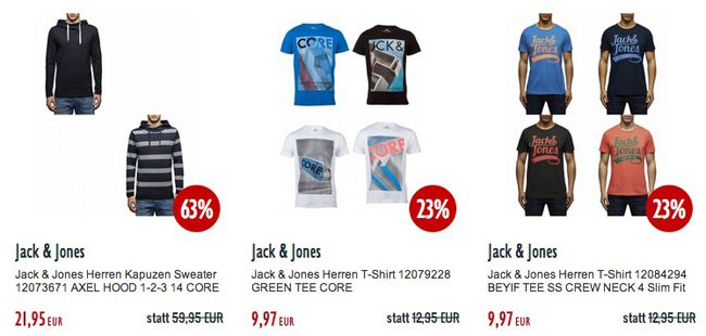 Jack and Jones KNALLER! 30% Rabatt auf ALLES von Jack & Jones (auch reduzierte Artikel)