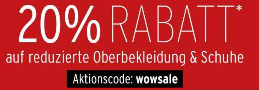 30% Gutschein auf reduzierte Schuhe bei Karstadt   Update